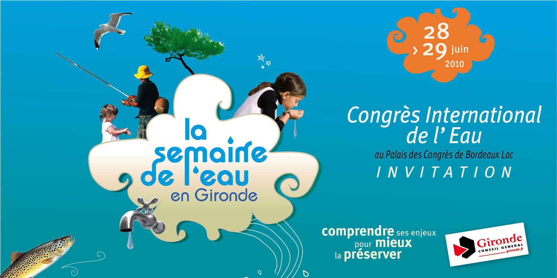 invitation-congrès Semaine de l'eau